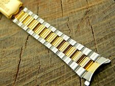 NOS Unused Vintage Seiko Deployment Clasp Two Tone Base Metal Watch Band 13mm