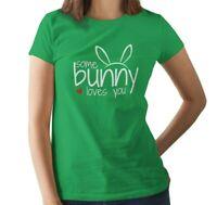 Women's Some Bunny Loves You #2 T Shirt Easter Print T-Shirt Gift Rabbit Lover