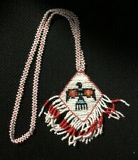 Beaded Eagle Head Necklace