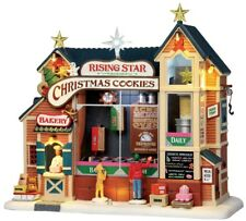 LEMAX CHRISTMAS TOWN House/Village Sight & Sound - RISING STAR BAKERY COOKIES