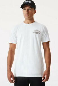 Los Angeles Lakers New Era NBA Metallic Logo White T-Shirt