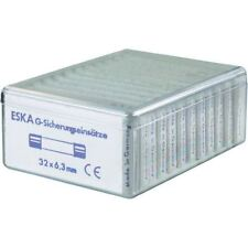 ESKA 632.800 Quick Blow Micro Fuses 6.3 x 32mm, Pack of 120