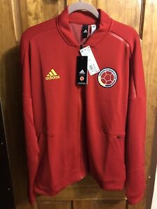 Adidas Colombia Jacket Mens Size Large Red  Anthem Jacket Colombian 2021 Rare