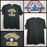 NFL Pittsburgh Steelers Mens XL Team Logo Graphic T Shirt Black NFL