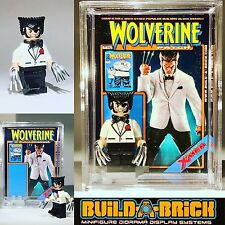 Marvel Wolverine Patch MINIFIGURE Set w Display Case Lego type Custom 325 z