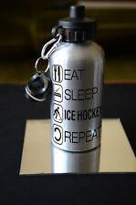 Hockey su ghiaccio regalo EAT SLEEP HOCKEY SU GHIACCIO Bottiglia D'acqua Compleanno Sport Accessorio Hobby