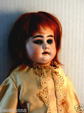 Antique Am Armand Marsille Bisque Doll with Red Mohair Kid Body Beautiful!
