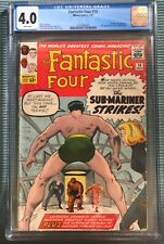 Fantastic Four #14, CGC 4.0 White Pages, Sub-Mariner, 2nd appear. Puppet Master