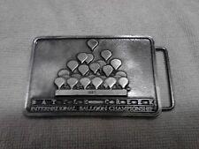 Hot Air Balloon Pewter Belt Buckle 1987 Battle Creek International Championship
