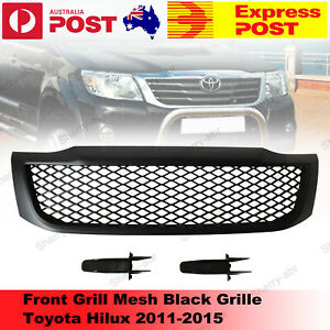 For Toyota Hilux Facelift 2011-2015 Front Mesh Net Grill Grille Matte Black NEW