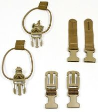 Lot of (6) Down Range Gear Coyote Brown Accessories Split Bar Cord Anchor Body