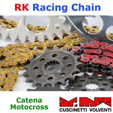 Catena motocross RK Racing Chain 520MXZ4 120 maglie CL - colore ORO