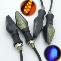 4x Universal 12V Motorcycle Smoke 13LED Turn Signal Indicator Light Amber Lamp