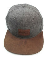 Coca-Cola Baseball Cap Hat Gray Twill with Suede Patch and Bill - BRAND NEW