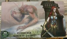 SIGNED PLAY MAT Magic The Gathering autographed 2013 Pittsburgh PES ccg mtg