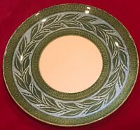 "Royal-Ironstone By Royal China 10"" Green Blue Vine Dinner Plates Lot of 7 EUC"