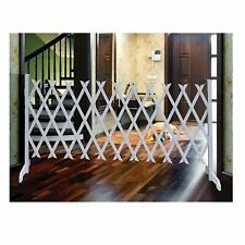 Portable Expandable Pet Fence - White Freestanding Durable Dog Safety Gate