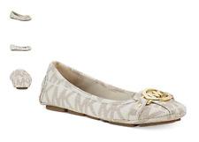 Michael Kors Fulton Moc Vanilla Logo Ballet Flat Women's sizes 5-11/NEW!!!