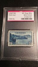 SCOTT 745 PSE GRADED XF 95J MINT OGnh JUMBO 6 CENT CRATER LAKE NATIONAL PARK