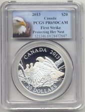 2013 Canada $20 Silver Bald Eagle Proof PCGS PR69 First Strike Protecting Nest