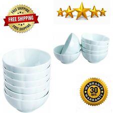 New ListingPorcelain Jade Cereal Salad Desserts Rice Ice Cream Fluted Bowls Set of 6 Bowls