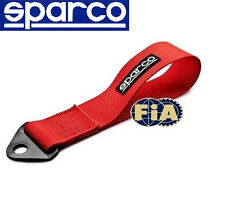 SPARCO RACING UNIVERSAL TOW STRAP FIA APPROVED RED TOW HOOK RIBBON