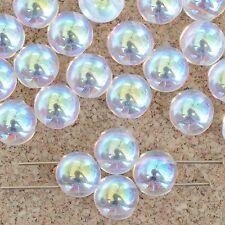 Candy Clear Crystal AB 00030-28701 Czech Glass Bead x 25