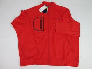 FRED PERRY MEN RED ORANGE J2226 TENNIS SPORTS WEAR L/S TRACK JACKET XXL NWT $190