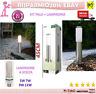 LAMPADE PALO DA GIARDINO PER ESTERNI ACCIAIO INOX ILLUMINAZIONE A LED 45 CM E27
