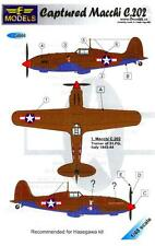 LF Models Decals 1/48 CAPTURED MACCHI C.202 American Markings
