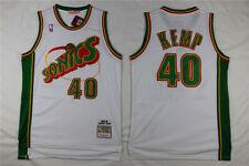 Seattle Sonics #40 Shawn Kemp White Basketball Jersey Size: S - XXL