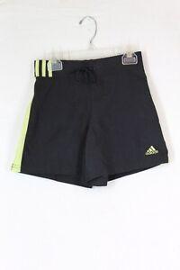 ADIDAS Nautical Training Shorts XS Black Green Polyester Elastic Waist