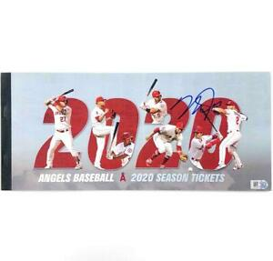 Mike Trout autograph signed Angels 2020 Season Ticket Book ~ MLB Holo Hologram