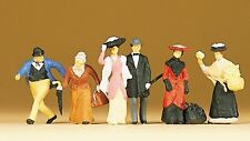 Preiser 12138 Reisende und Passanten um 1900 H0 6 Figuren handbemalt Neu