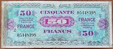 Billet 50 francs 1944 FRANCE préparer par les USA pour la libération série 2