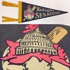 1960s Vintage Washington Senators Baseball Mlb Rare Mini Pennant Banner 5x12