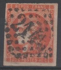 """FRANCE STAMP TIMBRE 48 c """" CERES BORDEAUX 40c ROUGE ORANGE"""" OBLITERE A VOIR N192"""