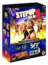 STEP UP 1-5 DVD BOX SET BRAND NEW SEALED 1 2 3 4 5 COMPLETE DANCE