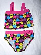 Pink Platinum Baby Girls' 2 Piece Fuchsia Retro Print Tankini Swimsuit 24 months