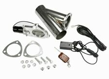 """STAINLESS UNIVERSAL EXHAUST CUTOUT-OUT VALVE E-CUT KIT REMOTE 2"""" / 51mm"""
