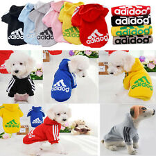 Casual Adidog Pet Dog Clothes Warm Hoodie Coat Jackets Apparel Clothing For Dogs