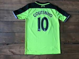 Liverpool FC Coutinho #10 Shirt 2016 2017 Shirt Size Age 15/16 176cm New Balance