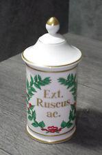 vintage FRENCH France LIMOGES PHARMACIE DRUGSTORE APOTHECARY PORCELAIN JAR pot