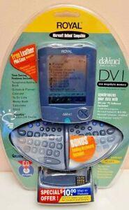 Vintage Royal DaVinci DV1 Palm Size Organizer PDA Pocket PC Folding Keyboard 1MB