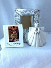 "Margaret Furlong 3"" Shell Angel Ornament Wreath W/Box"