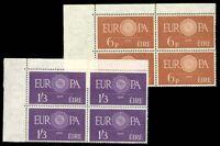 Ireland #175-176 MNH Blocks of 4 CV$190.00 CEPT