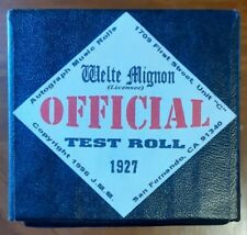 TEST ROLL WELTE RECUT REPRODUCING PIANO ROLL