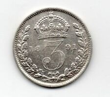 Great Britain - Engeland - 3 Pence 1891 (2)