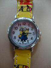 Kid's Despicable Me 2 Analogue (Yellow Faux Leather Band) wrist watch BRAND NEW