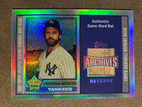 2002 Topps Archives Reserve Thurman Munson Game Used Bat - New York Yankees